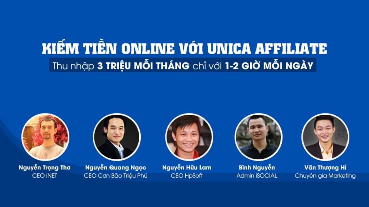 Đánh giá khóa học Kiếm tiền Online với Unica Affiliate