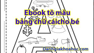 ebook tô màu bảng chữ cái cho bé yêu
