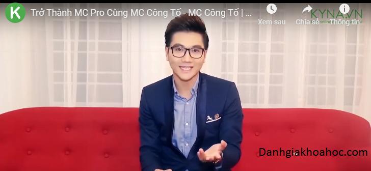 Đánh giá khóa học Trở thành MC Pro cùng MC Công Tố