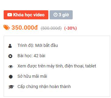 Đánh giá khóa học Bán hàng bằng video marketing và Livestream