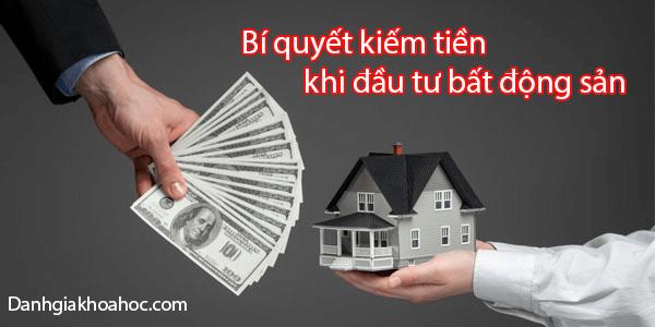 5 Bí quyết kiếm tiền khi đầu tư bất động sản
