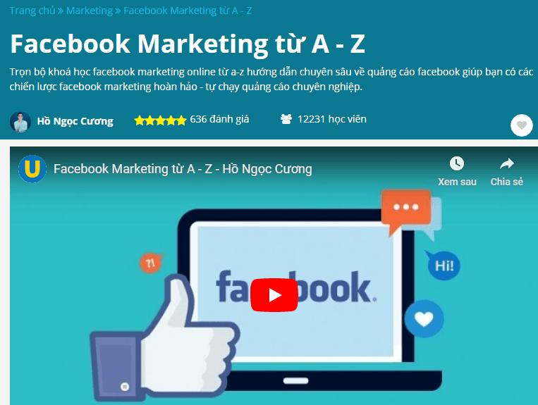 Facebook Marketing từ A đến Z của Hồ Ngọc Cương