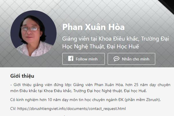 Thông tin giảng viên Phan Xuân Hòa
