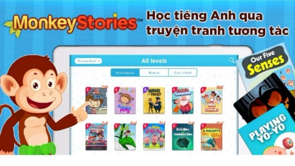 Review ứng dụng Monkey Stories - Học tiếng Anh qua truyện cho bé