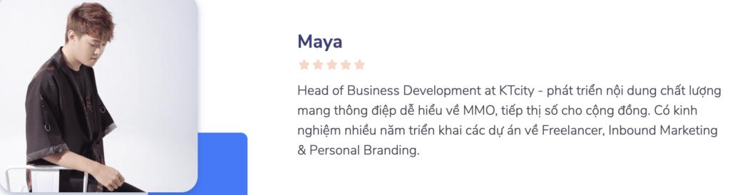 giảng viên Maya