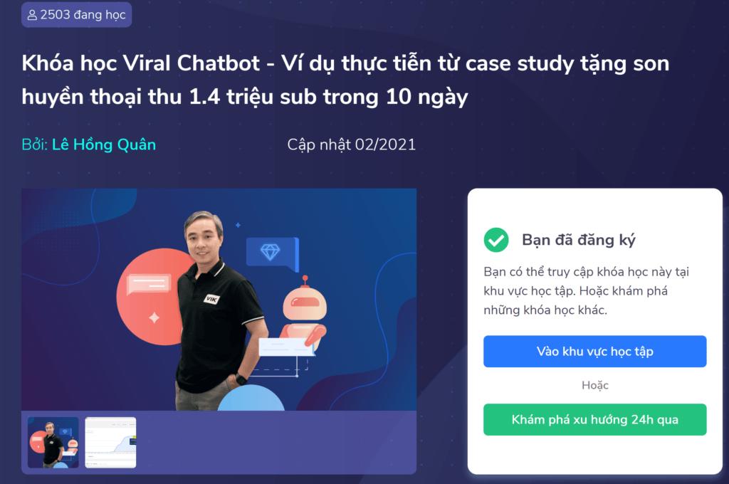 Review khóa học Viral Chatbot – Miễn phí 100%