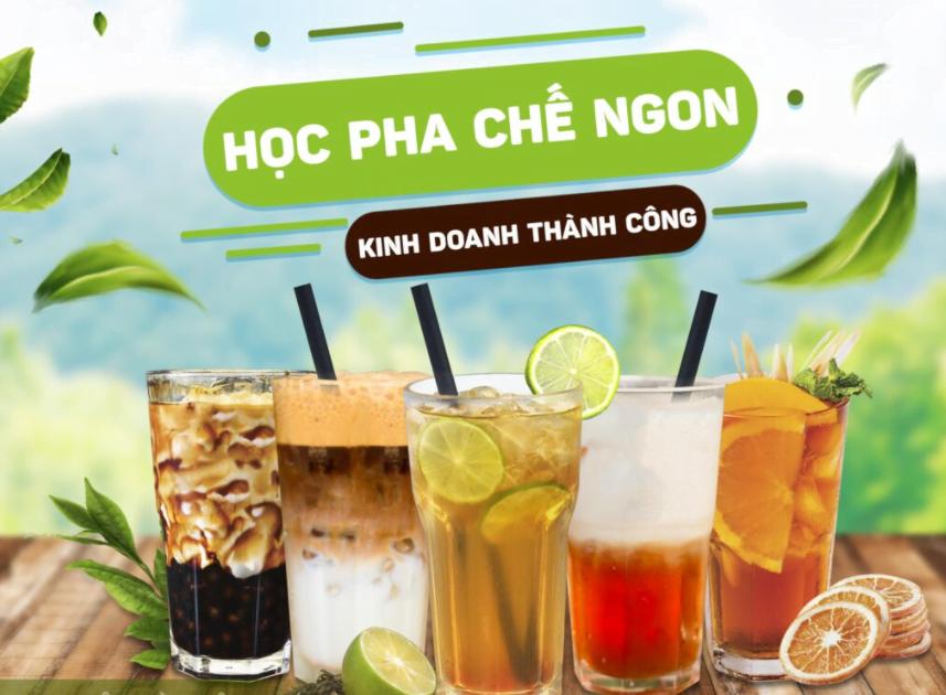 Review khóa học Pha chế trà sữa, trà detox trái cây Đài Loan nổi tiếng