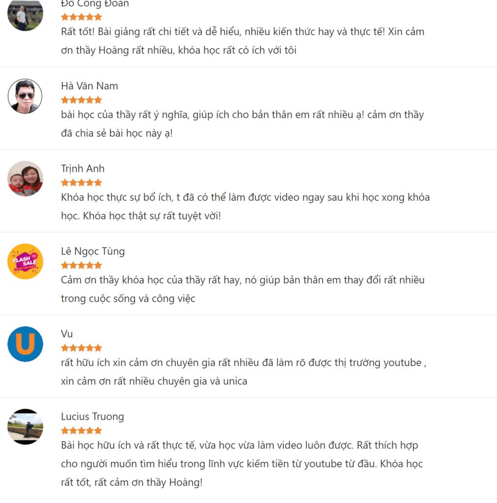 Review khóa học Bí quyết kiếm tiền trên Youtube