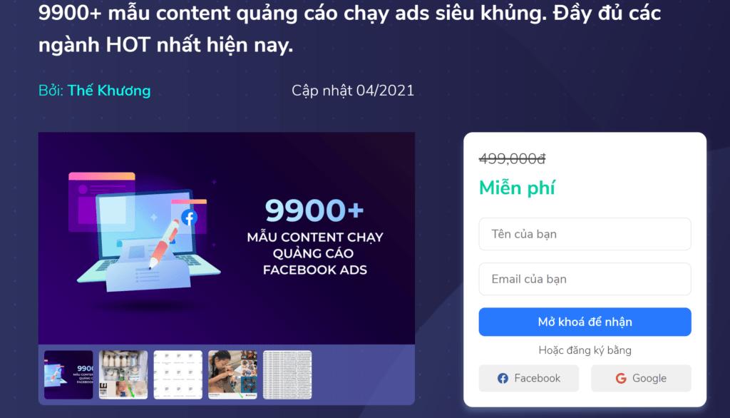 9900+ mẫu content quảng cáo chạy ads siêu khủng. Đầy đủ các ngành HOT nhất hiện nay.