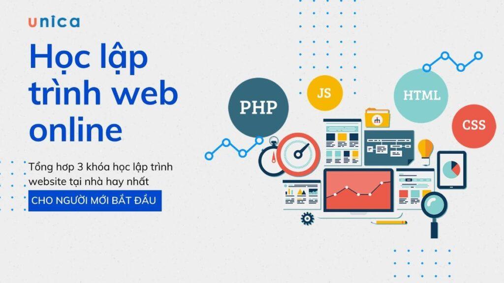 Top 3 khóa học lập trình web online tốt nhất 2021
